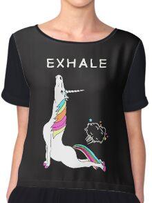 Exhale Yoga T-shirt Unicorn With Rainbow Chiffon Top