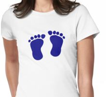 Baby footprints Womens Fitted T-Shirt
