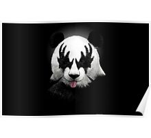Panda rocks Poster