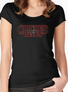 stranger wings Women's Fitted Scoop T-Shirt