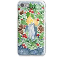 Pine and Holly Wreath iPhone Case/Skin