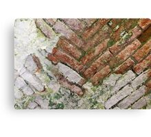 antique ancient walls of castle Canvas Print