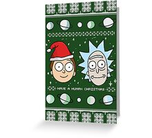 Human Christmas (color) Greeting Card