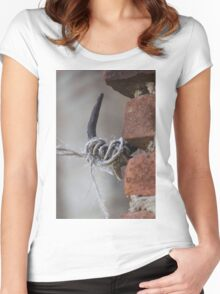 antique ancient walls of castle Women's Fitted Scoop T-Shirt