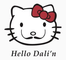 Dali Moustache Hello Kitty by sweetsixty