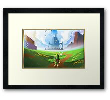Zelda World Framed Print