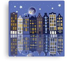 A Special night in Amsterdam Canvas Print