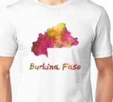 Burkina Faso in watercolor Unisex T-Shirt