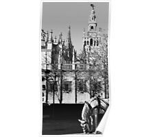 An ancient view - Seville Giralda  Poster