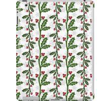 Seamless christmas holly pattern iPad Case/Skin