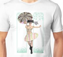 Colombina Pirata con sombrilla Unisex T-Shirt