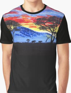 African sunset painting Graphic T-Shirt