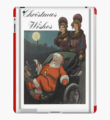Vintage Christmas Vintage Puck Cover iPad Case/Skin
