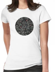 Wolf Pack Pattern Womens Fitted T-Shirt
