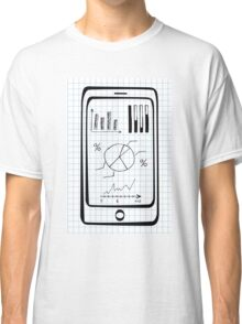 Doodle hand drawn smart phone Classic T-Shirt