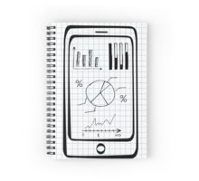 Doodle hand drawn smart phone Spiral Notebook
