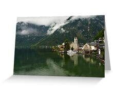 Hallstatt is the most picturesque village of Austria Greeting Card