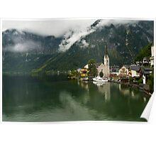 Hallstatt is the most picturesque village of Austria Poster