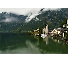 Hallstatt is the most picturesque village of Austria Photographic Print