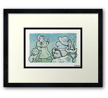 Cowtown Framed Print
