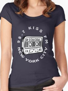 Chuck Chillout 98.7 Kiss FM old school hip hop [wht] Women's Fitted Scoop T-Shirt