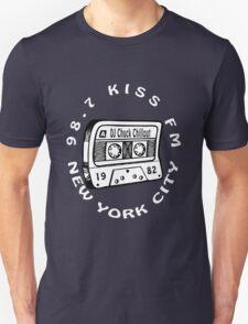 Chuck Chillout 98.7 Kiss FM old school hip hop [wht] Unisex T-Shirt