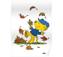 Ferald Dancing Amongst The Autumn Leaves Poster