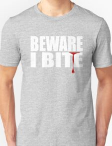 WARNING I BITE - FUNNY, CUTE VAMPIRE SHIRT - BLUETSHIRTCO HALLOWEEN T-SHIRT Unisex T-Shirt
