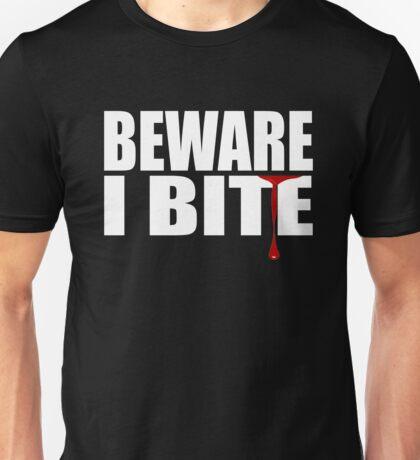 WARNING I BITE - FUNNY, CUTE VAMPIRE SHIRT - BLUETSHIRTCO HALLOWEEN T-SHIRT Unisex T-Shirt