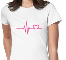 Frequency heart love Womens Fitted T-Shirt