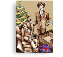 Christmas at 221B Baker Street - Surprise! Canvas Print