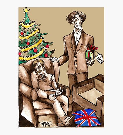 Christmas at 221B Baker Street - Surprise! Photographic Print