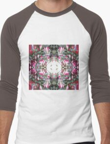 Fushcia 1 Fractal (trimmed) Men's Baseball ¾ T-Shirt