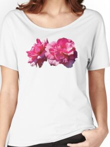 Two Pink Roses Women's Relaxed Fit T-Shirt
