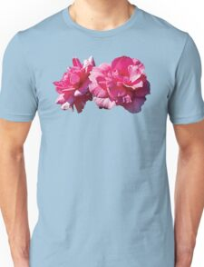 Two Pink Roses Unisex T-Shirt