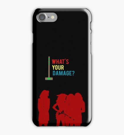 WHAT'S YOUR DAMAGE? iPhone Case/Skin