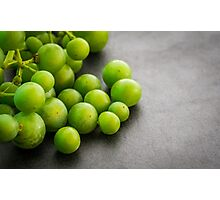 Green grapes. Photographic Print