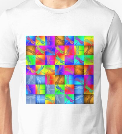 Dragonfly Patchwork Unisex T-Shirt