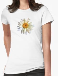 Daisy Looking Up Womens Fitted T-Shirt