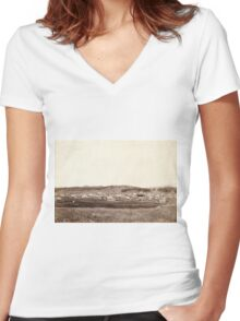Custer City - John Grabill - 1890 Women's Fitted V-Neck T-Shirt