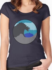 The Great Wave - Blue Women's Fitted Scoop T-Shirt