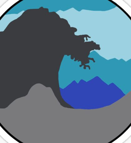 The Great Wave - Blue Sticker
