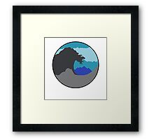The Great Wave - Blue Framed Print