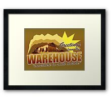 Greetings from the Warehouse Framed Print