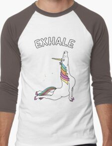 Yoga Unicorn - 'EXHALE' Cobra Pose Men's Baseball ¾ T-Shirt