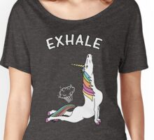 Yoga Unicorn - 'EXHALE' Cobra Pose Women's Relaxed Fit T-Shirt