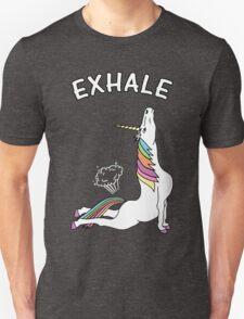 Yoga Unicorn - 'EXHALE' Cobra Pose Unisex T-Shirt