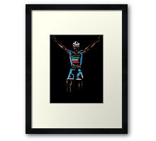 nibali yellow Framed Print