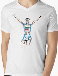nibali yellow Mens V-Neck T-Shirt