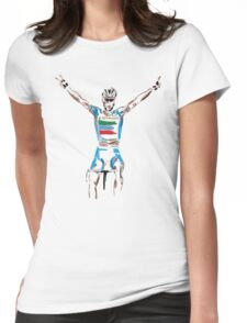nibali yellow Womens Fitted T-Shirt
